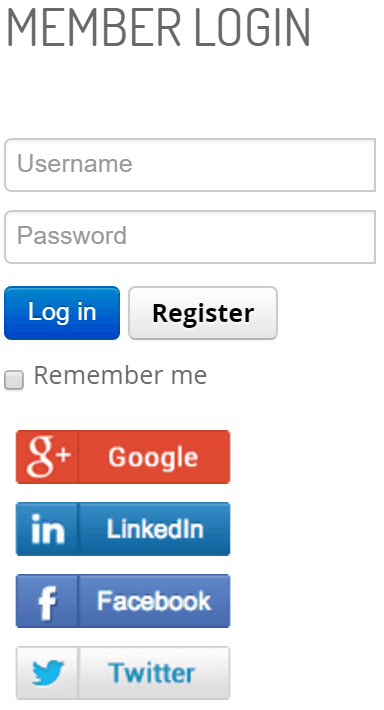 Joomla Website Login
